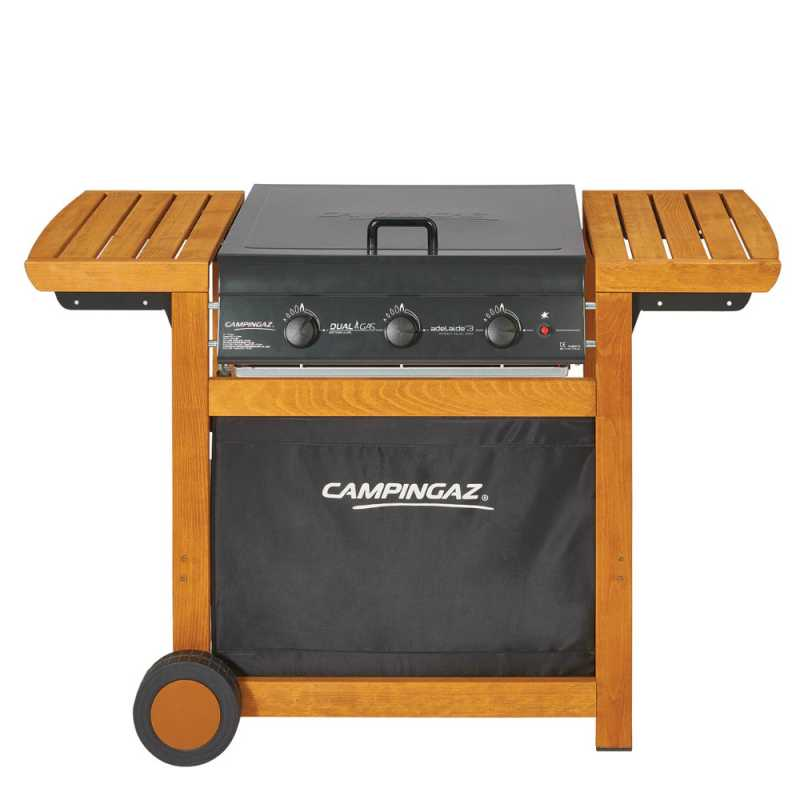 Barbecue A Gas Campingaz Adelaide 3 Woody Dual Gas